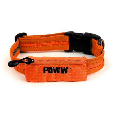 Paww Secret Agent Dog Collar Tag Pocket Light Mesh Snap Buckle Pets Comfortable