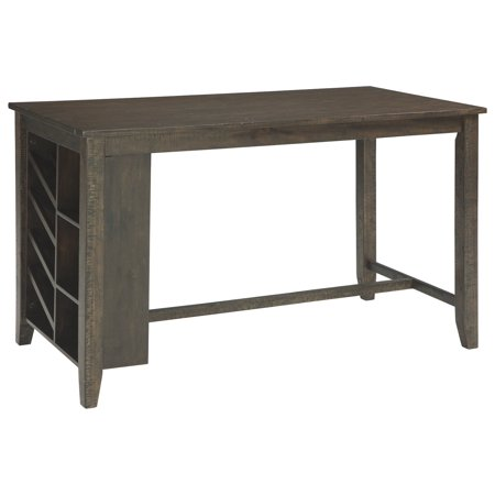 Signature Design By Ashley - Rokane Rectangular Counter Table w/Storage - Casual Style - Brown ()