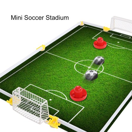 Kids Sports Toys Soccer Football Goal Set Hover Ball with 2 Gates for Kid Gifts Boys Girls Air Power Training Ball Indoor Outdoor Disk Game - Football In Blow Up Balls