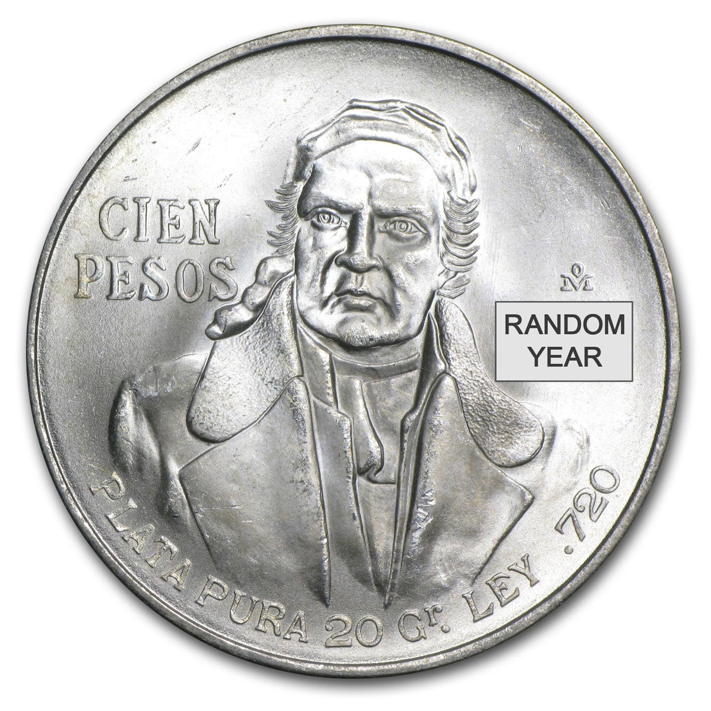 1977 1979 Mexico Silver 100 Pesos Au Bu Asw 643