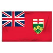 Ontario Provincial Flag (3 by 5 feet)