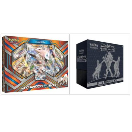 Pokemon Trading Card Game Sun & Moon Burning Shadows Elite Trainer Box and Lycanroc GX Box Bundle, 1 of Each](Pokemon Container)