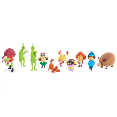 Dr. Seuss' The Grinch 10-Piece Collectible Figure Set