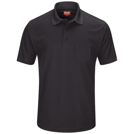 Red Kap Long Sleeve Work Shirt (Red Kap Men's Short Sleeve Performance Knit Pocket Polo )
