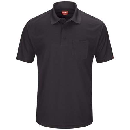 Red Kap Mens Snap (Red Kap Men's Short Sleeve Performance Knit Pocket Polo)