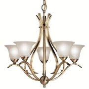 "Kichler Dover Collection 24""W Brushed Nickel Five Light Chandelier"