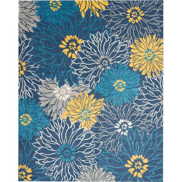 Nourison Passion Floral Blue Area Rug Walmart Com Walmart Com