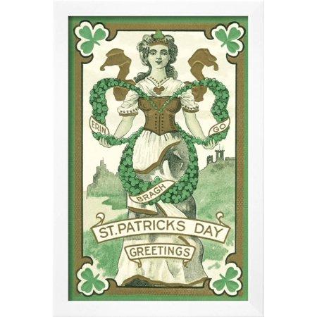 Irish lass erin go bragh framed print wall art walmart irish lass erin go bragh framed print wall art m4hsunfo