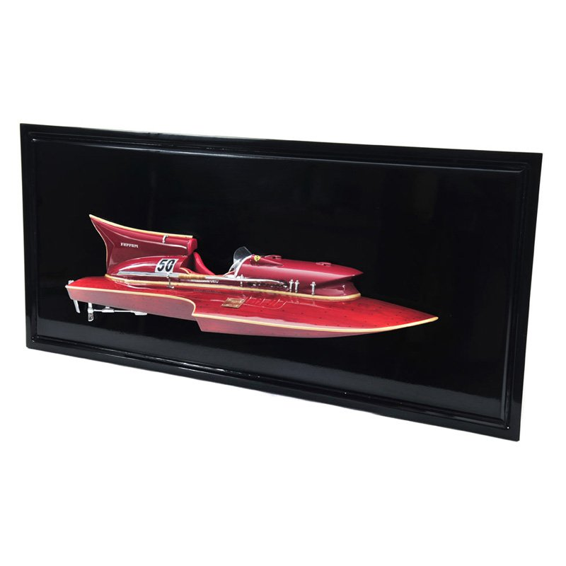 Old Modern Handicrafts Ferrari Hydroplane Half Hull Model Boat by Overstock