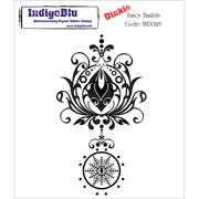 """IndigoBlu Cling Mounted Stamp, 3"""" x 4"""", Fancy Bauble, Dinkie"""