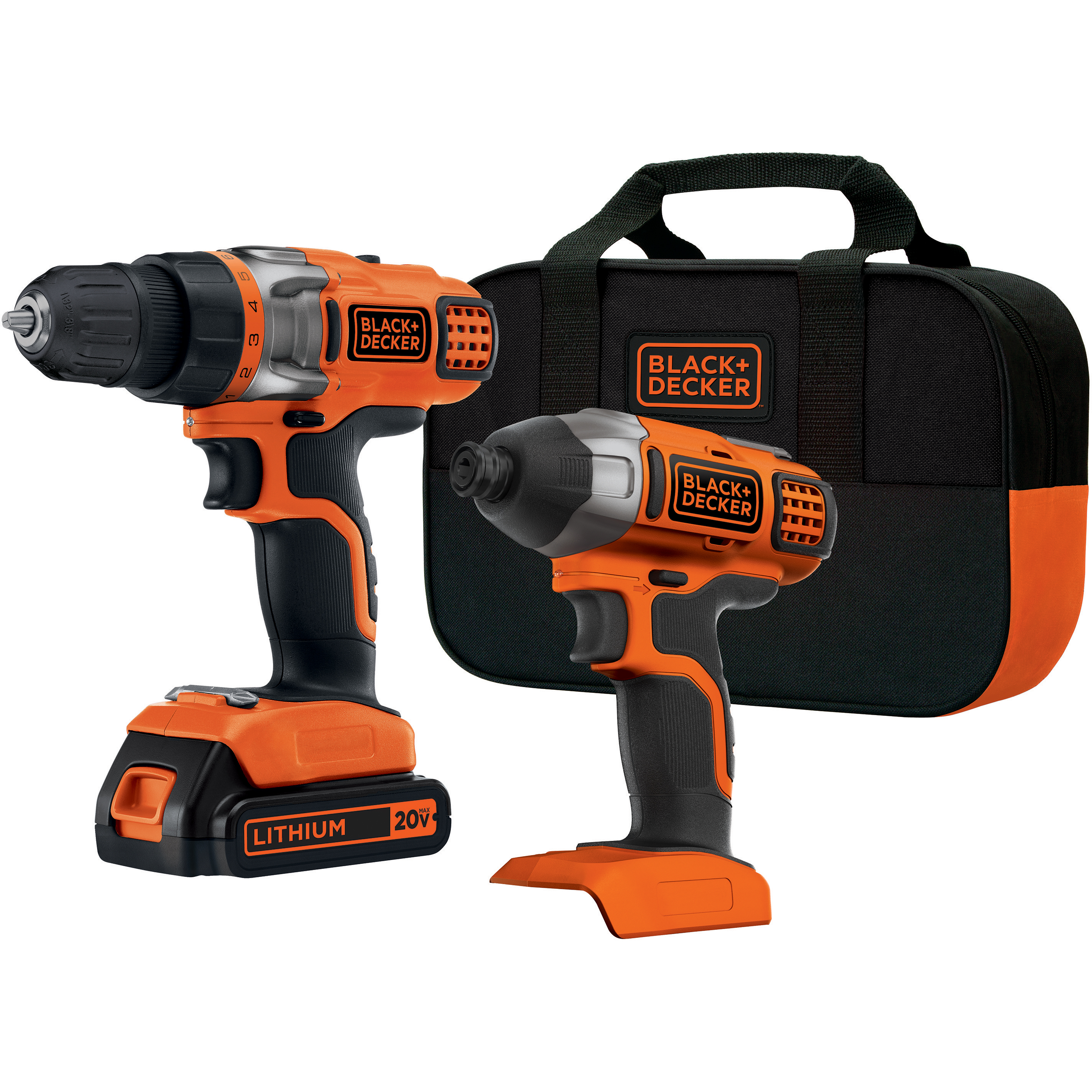 BLACK+DECKER BDCD220IA-1 20V Max Lithium-Ion Cordless Drill and Impact Driver with 1 Battery