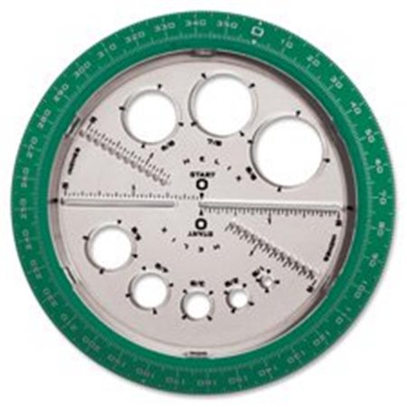 Angle-Circle Maker, Protractor-Compass, 360 Degrees