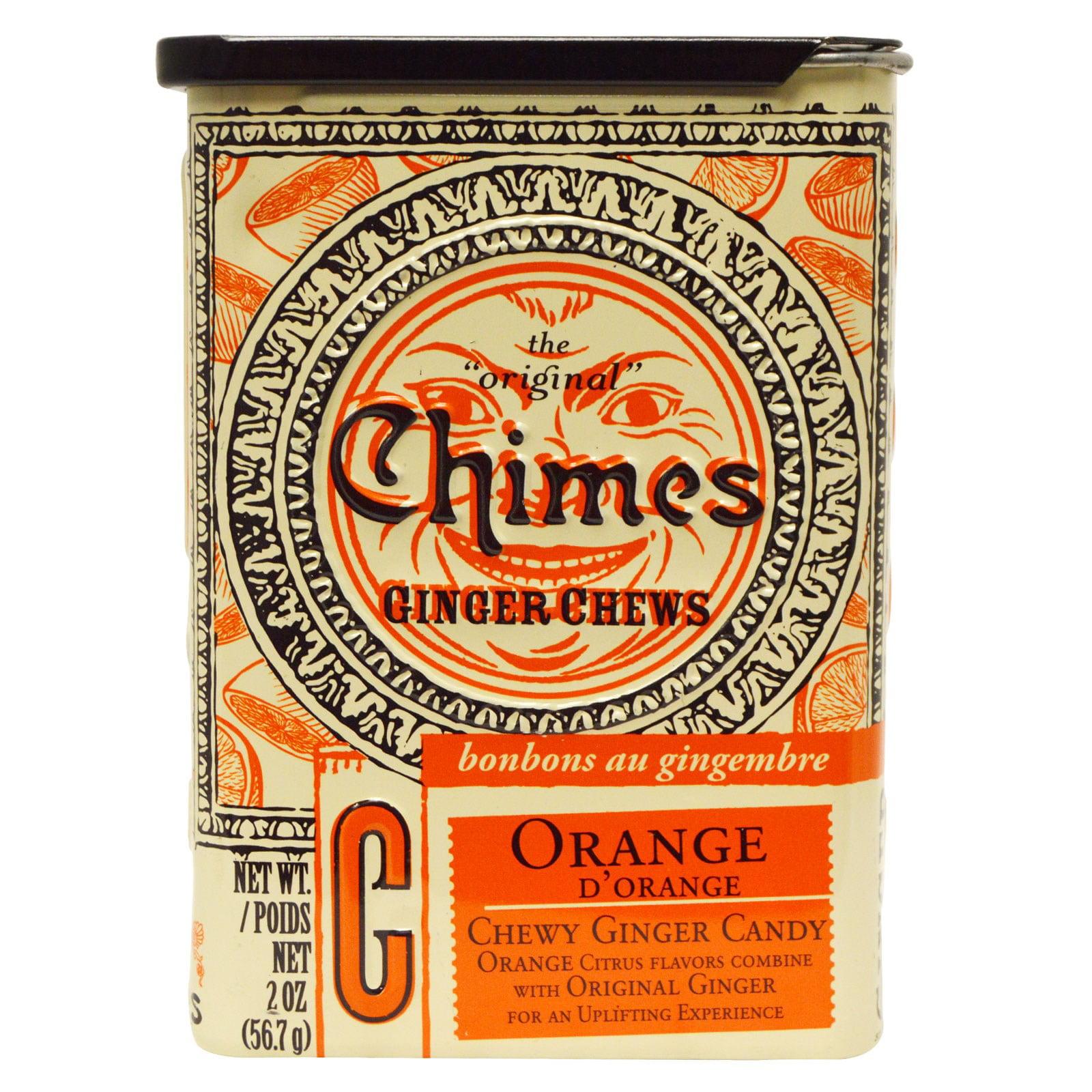 Chimes, Ginger Chews, Orange, 2 oz (pack of 4)