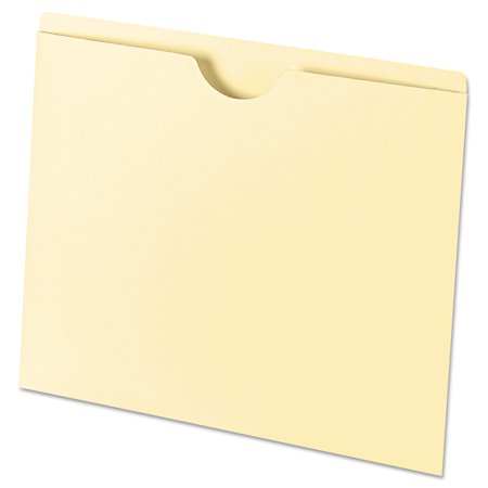Universal Economical File Jackets, Letter, 11 Point Manila, 100/Box - Manila Recycled File Jackets Reinforced