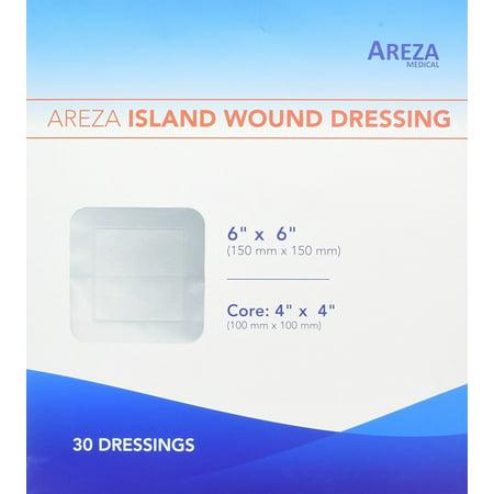 Bordered Gauze Dressing (Bordered Gauze Island Dressing 6' x 6' Sterile Latex Free 30 Per Box)