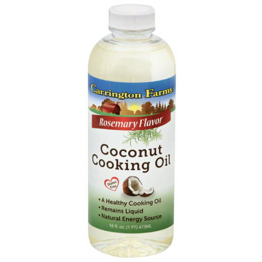 Carrington Farms Rosemary Flavor Coconut Cooking Oil, 16 fl oz, (Pack of 6)