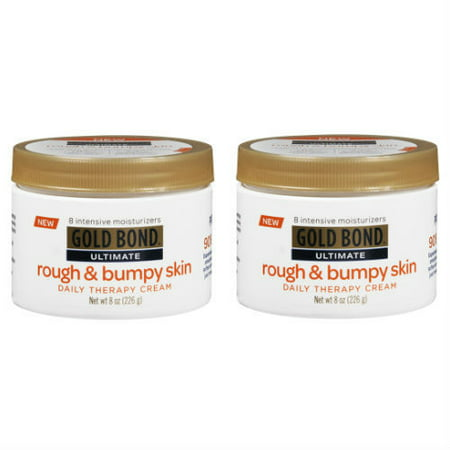 2 Pack Gold Bond Ultimate Rough & Bumpy Skin Daily Therapy Cream - 8 oz (Gold Bond Rough And Bumpy Skin Cream)