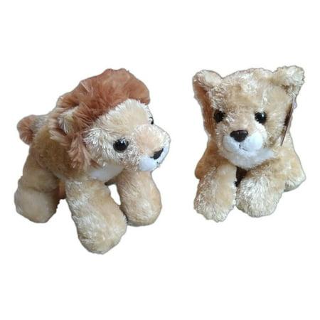 LIONEL Lion & LEAH Lioness Mini Flopsie 8