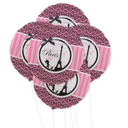 Paris Damask 5pc Foil Balloon Kit](Paris Birthday Decorations)