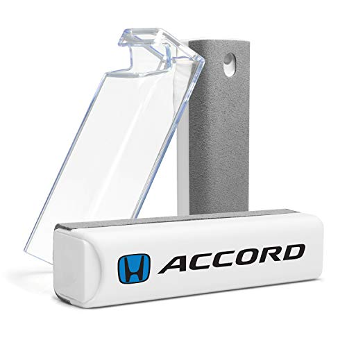Honda Blue Logo Accord All-in-One Gray Microfiber Wipe Screen Cleaner for Car Navigation Screen, Touch Pads, Cell Phone Plus Cell Phone Stand