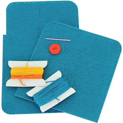 Purse Sew and Stuff Kit, Blue Sun