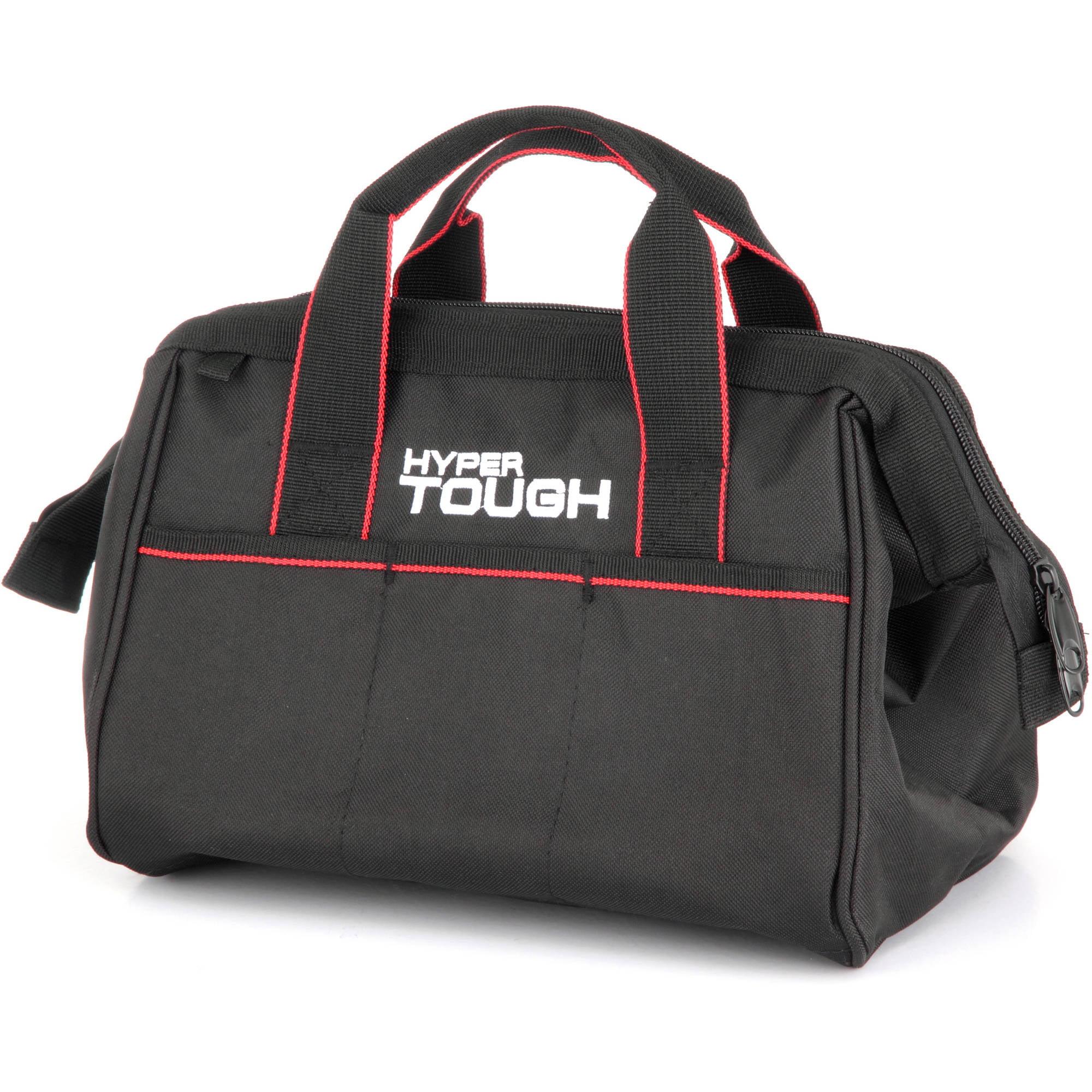 Hyper Tough TT50023Z 12-Inch Zipper Tool Bag with Carry Handles