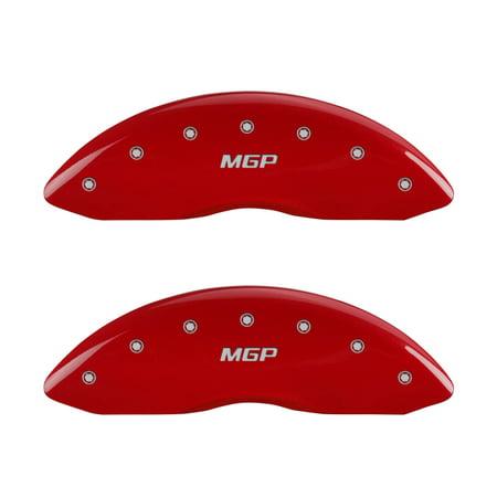 MGP Caliper Covers 16077SMGPRD Couvertures d'-trier MGP rouge - grav-es - l'avant et - l'arri-re, jeu de 4 - image 1 de 2