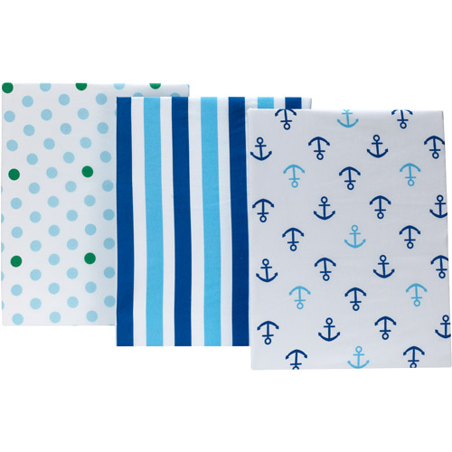 Little Bedding by NoJo Splish Splash Set of 3 Crib Sheets