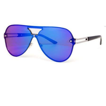 Large Oversized Shield Women Sunglasses Huge XL Frame Aviator Futuristic Lens (Huge Aviator Sunglasses)