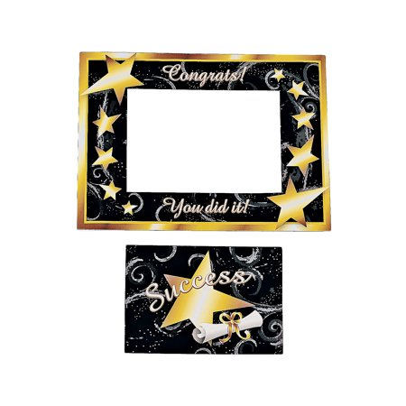 Fun Express - Grad Magnetic Picture Frame - Black/gold for Graduation - Stationery - Office Supplies - Magnets - Graduation - 12 Pieces](Fun Frames)