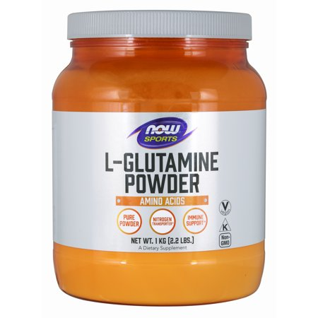 NOW Sports Nutrition, L-Glutamine Pure Powder, Nitrogen Transporter*, Amino Acid, 35.3-Ounce