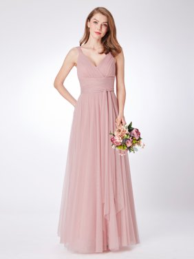 9a70a3976 Free shipping. Product Image Ever-Pretty Women's Elegant Long Tulle Party  Wedding Guest Bridesmaid Maxi Dresses for Women 7303