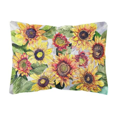Sunflowers Canvas Fabric Decorative Pillow