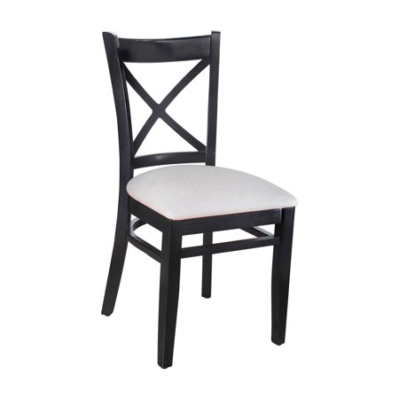 Safsil Seating Cross Back Upholstered Dining Side Chair - Set of 2 Cross Back Fabric Seat