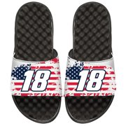 Kyle Busch ISlide American Flag Slide Sandals - White