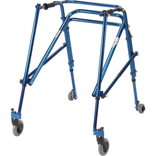Drive Medical Nimbo Rehab Lightweight Posterior Posture Walker, Young Adult, Midnight Blue