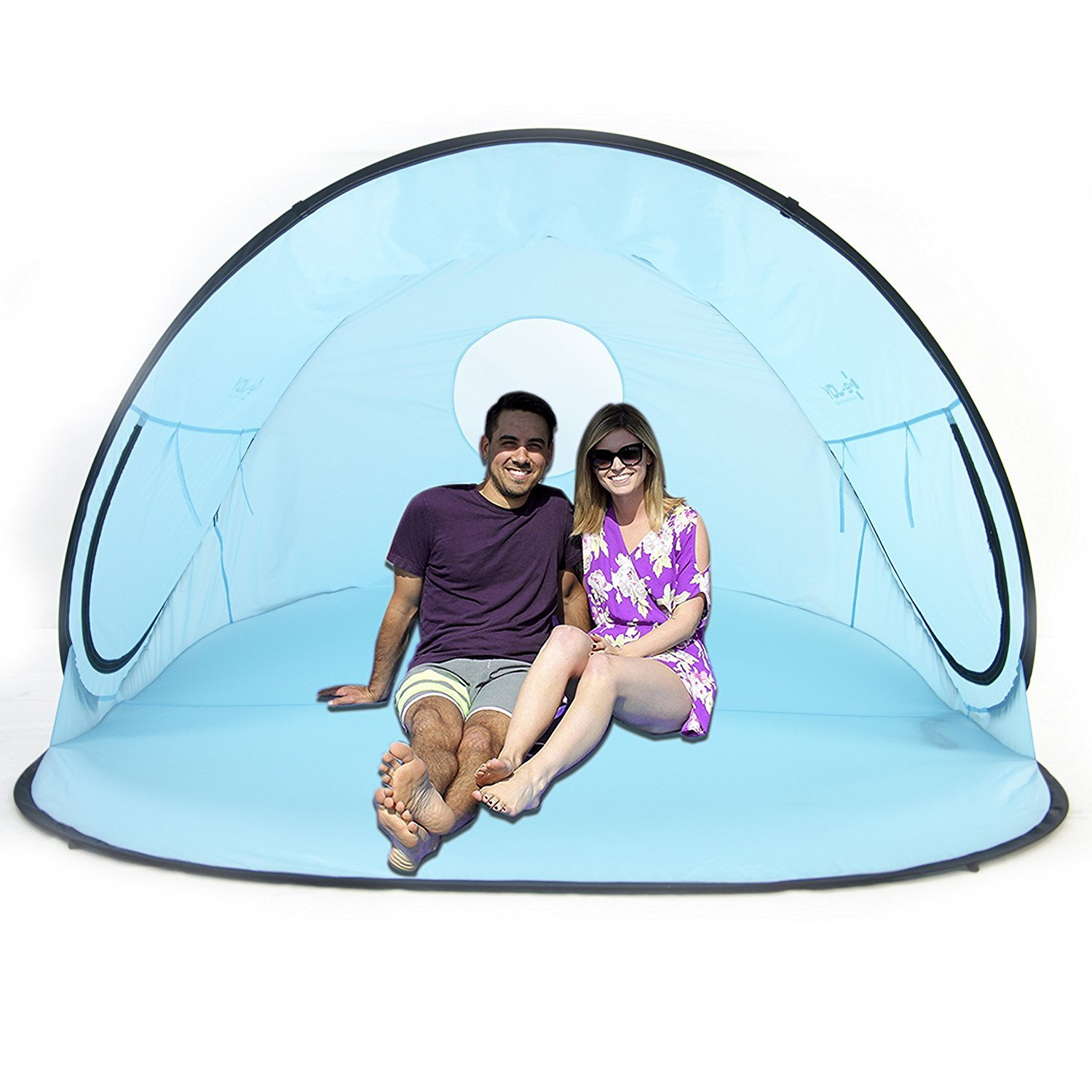 Automatic Pop Up Instant Portable Outdoors Beach Tent , Lightweight Portable Family Sun Shelter Cabana ,Provide UPF 50+ Sun Shelter
