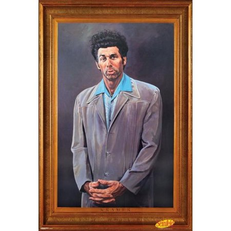 Seinfeld Kramer Portrait Faux Frame Michael Richards TV Poster 24x36 inch ()