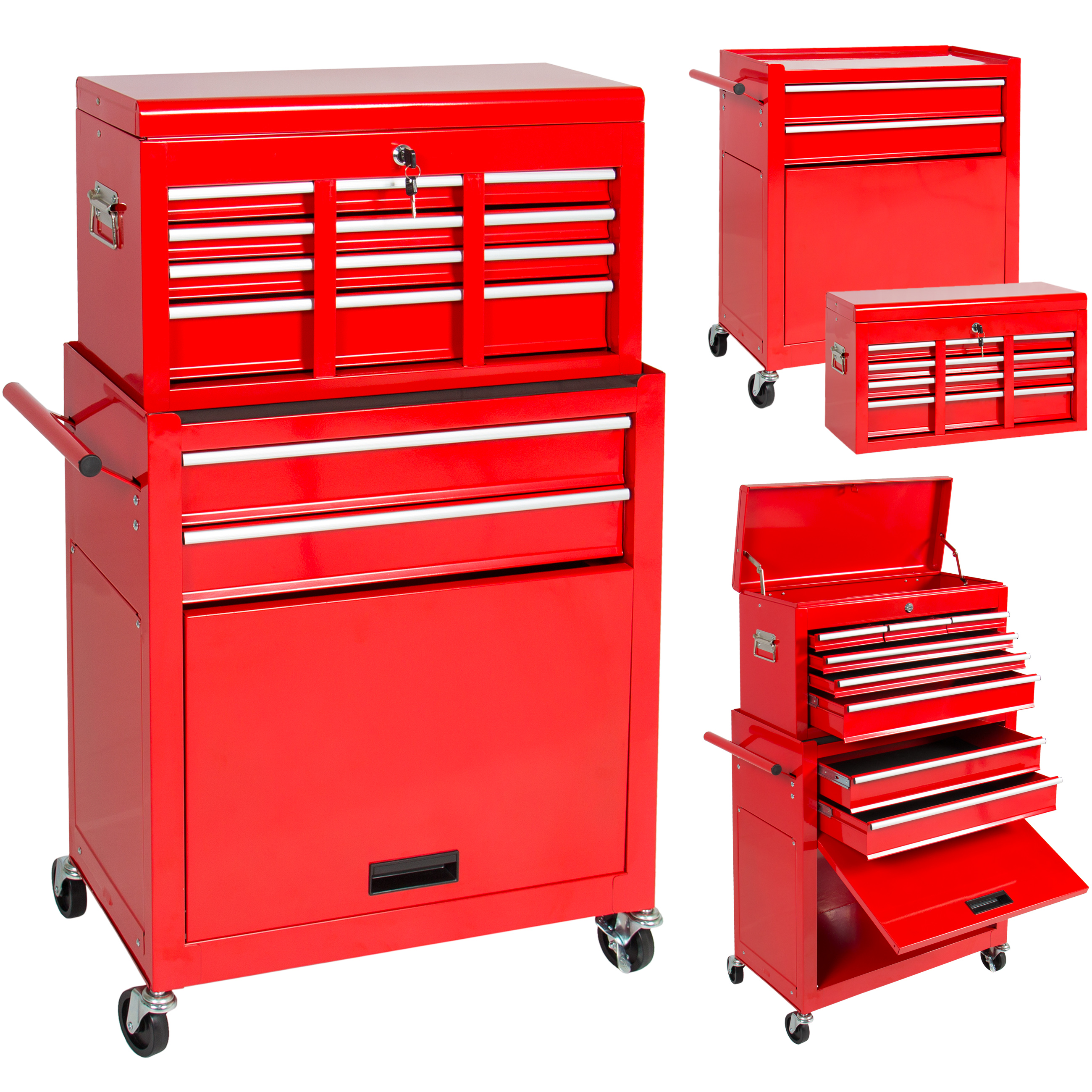 Best Choice Products Portable Top Chest Rolling Tool Storage Box Cabinet  Sliding Drawers   Walmart.com