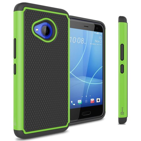 Green Series Life (CoverON HTC U11 Life Case, HexaGuard Series Hard Phone Cover)