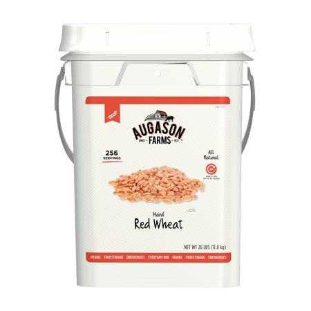 Augason Farms Hard Red Wheat 26 Pound Pail - Walmart.com