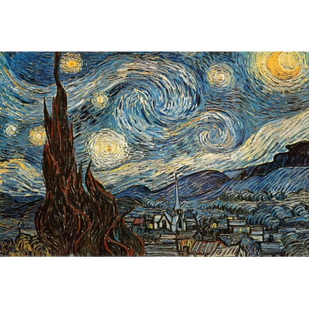 Starry Night, c. 1889 Poster By Vincent van Gogh - 36x24