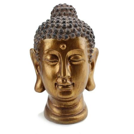 Smiling Meditating Buddha Shakyamuni Head Statue 8