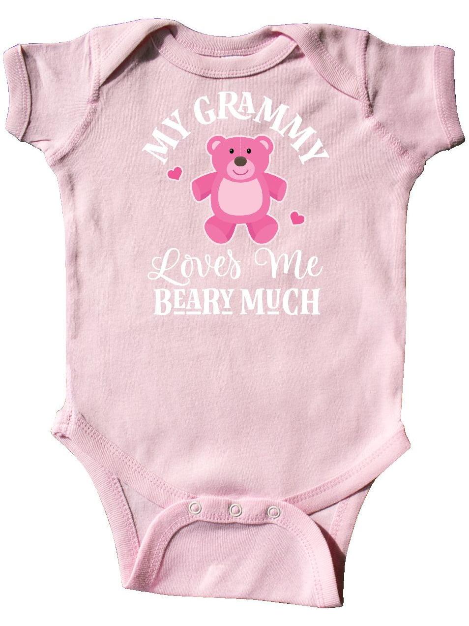 Cute Bear Long Sleeve Creeper inktastic Grammy Loves Me Beary Much