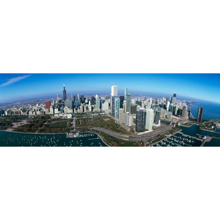 View of a Park in a City, Millennium Park, Lake Michigan, Chicago, Cook County, Illinois, USA Print Wall Art By Panoramic Images - Halloween City In Michigan
