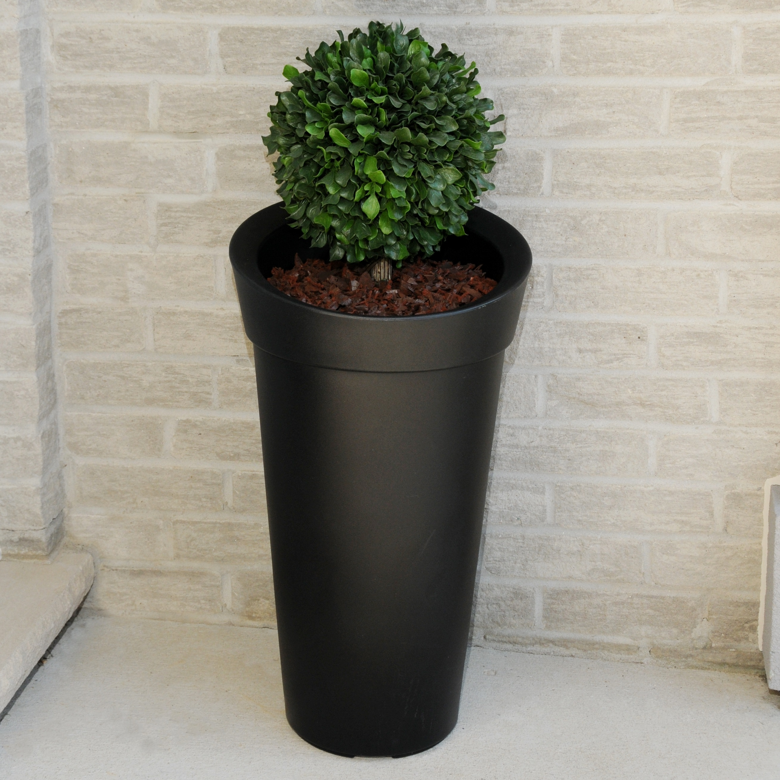 Creston Tall Planter Black by Garden Planters