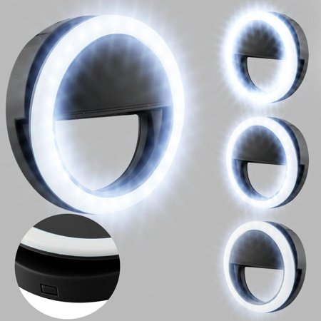 Flash Fill Ring light Clip-on Cellphone Camera 36 LED bulbs beautifies picture quality durable for iPhone x 8 8 plus 7, 7 Plus, 6 plus, Samsung Galaxy S6 Edge, S6 s7 s8 s9 Sony, (Samsung S7 Edge Vs S6 Edge Plus)