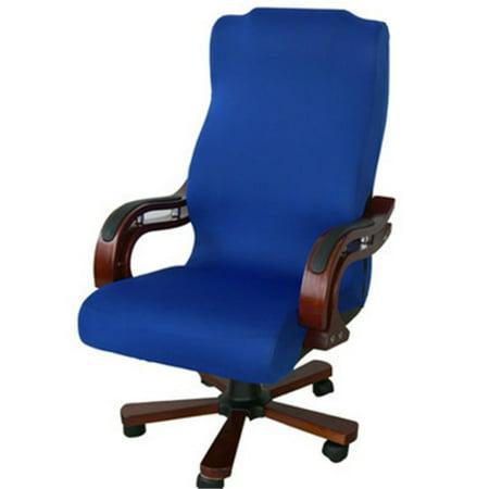 Meigar Swivel Computer Chair Cover Stretch Home Office Seat Antimacassar Zipper S/M/L