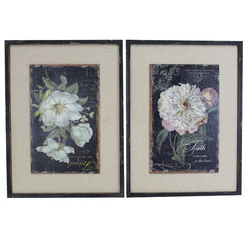 Selectives Peony 2 Piece Framed Painting Print Set