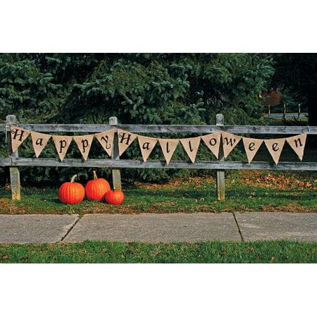 Fun World 9825HH Happy Halloween Banner,12', Cream (Halloween Fun Food Names)